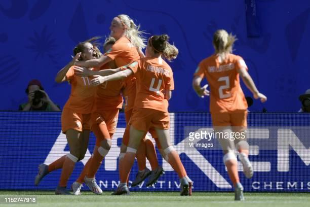 Lieke Martens of Netherlands women, Vivianne Miedema of Netherlands women , Stefanie van der Gragt of Netherlands women, Merel van Dongen of...