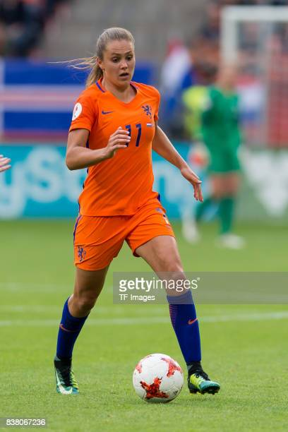 Lieke Martens of the Netherlands controls the ball during their Group A match between Netherlands and Norway during the UEFA Women's Euro 2017 at...