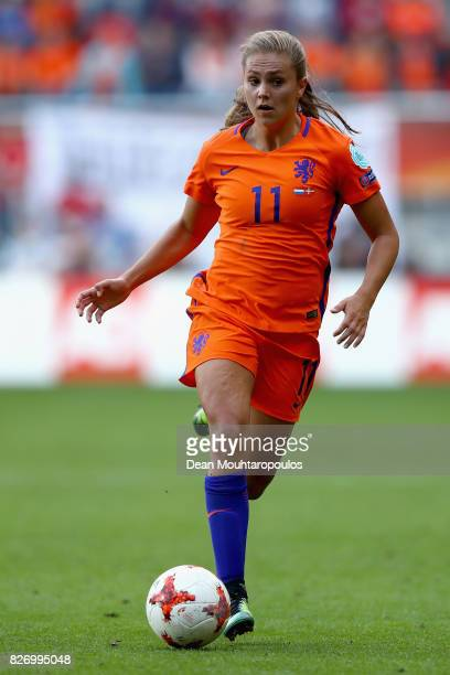 Lieke Martens of the Netherlands in action during the Final of the UEFA Women's Euro 2017 between Netherlands v Denmark at FC Twente Stadium on...