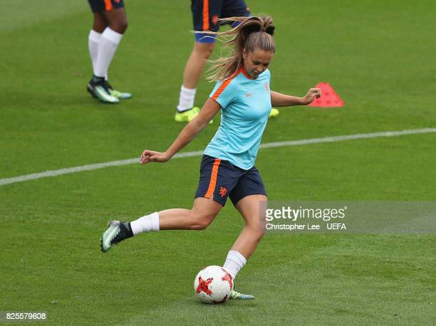 Lieke Martens of the Netherlands in action during the Netherlands Training Session at FC Twente Stadion on August 2 2017 in Enschede Netherlands