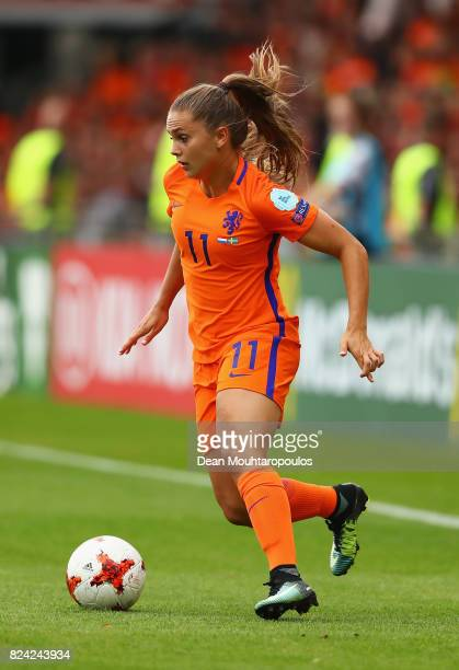 Lieke Martens of the Netherlands in action during the UEFA Women's Euro 2017 Quarter Final match between Netherlands and Sweden at Stadion De...