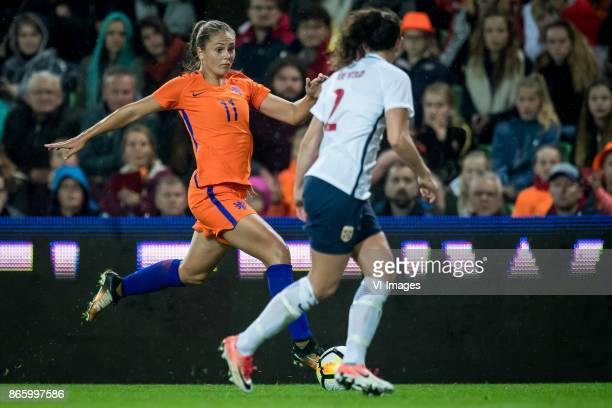 Lieke Martens of The Netherlands Ingrid Moe Wold of Norway during the FIFA Women's World Cup 2019 qualifying match between The Netherlands and Norway...