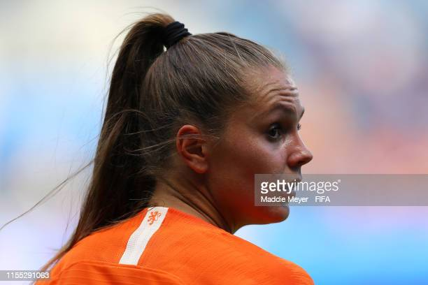 Lieke Martens of the Netherlands looks on during the 2019 FIFA Women's World Cup France group E match between New Zealand and Netherlands at Stade...