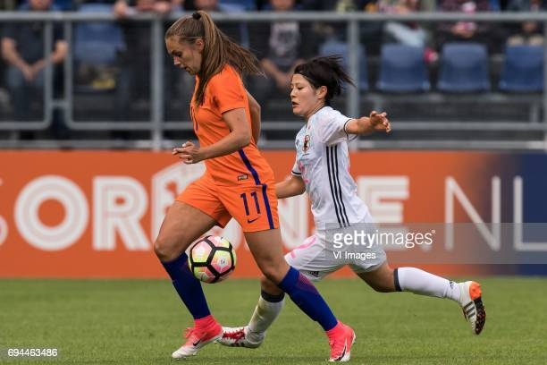 Lieke Martens of The Netherlands Naomoto Hikaru of Japanduring the friendly match between the women of The Netherlands and Japan at the Rat Verlegh...