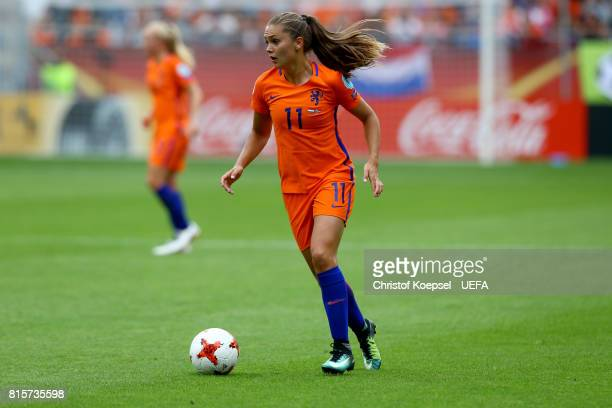 Lieke Martens of the Netherlands runs with the ball during the UEFA Women's Euro 2017 Group A match between Netherlands and Norway at Stadion...