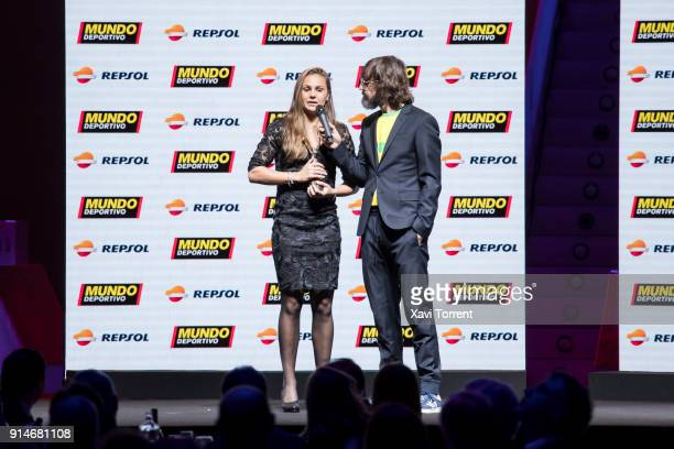 Lieke Martens receives the Revelación Ricoh award during the 70th Mundo Deportivo Gala on February 5 2018 in Barcelona Spain