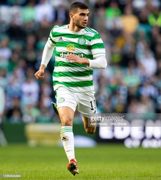 Liel Abada in action for Celtic during a cinch Premiership match between Celtic and Ross County at Celtic Park on September 11 in Glasgow, Scotland