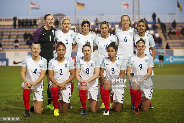 Lien up England during the preseason friendly match between national women's Engalnd vs Norway in Pinatar Arena San Pedro del Pinatar Murcia SPAIN...