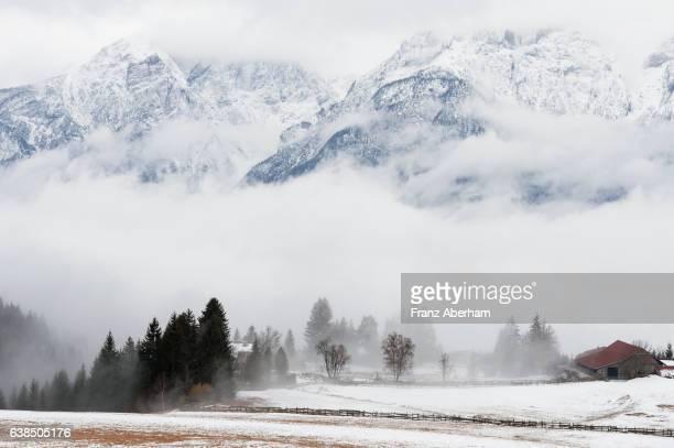 Lienzer Dolomites in fog, Austria