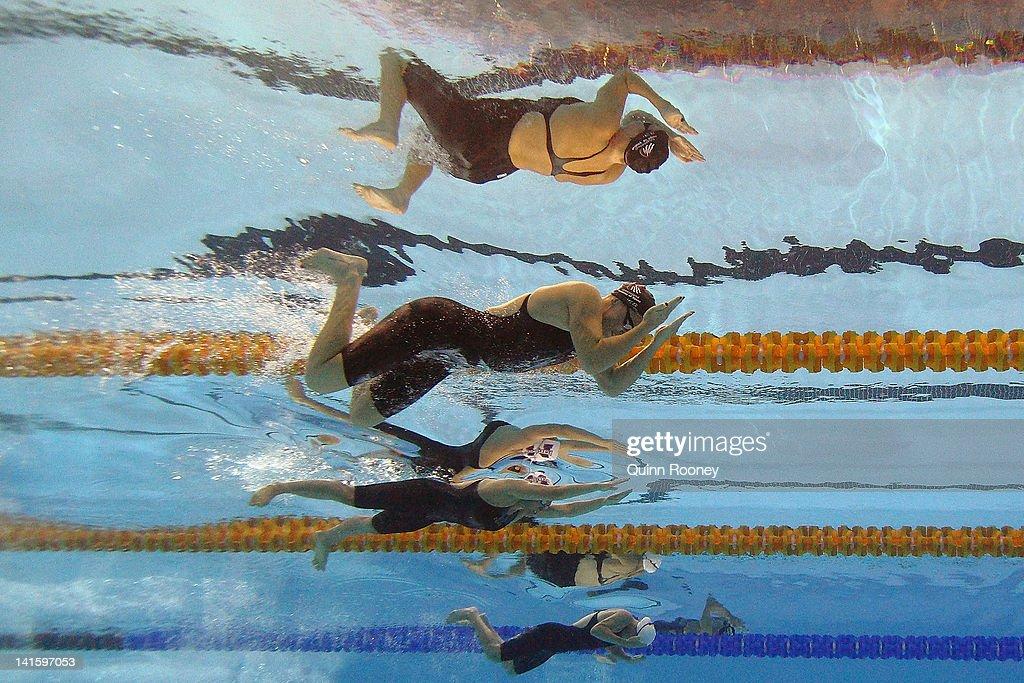 liesel jones karlene pircher and ashlea gierke of australia compete in the semi final of
