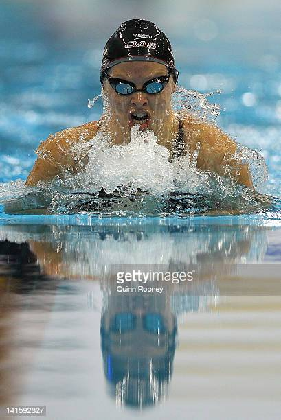Liesel Jones of Australia competes in the Semi Final of the Women's 200 Metre Breaststroke during day five of the Australian Olympic Swimming Trials...