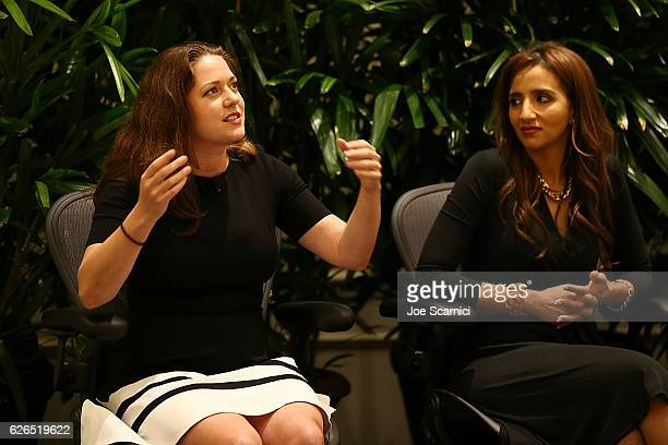 Liesel Pritzer Simmons and Manal Elattir speak onstage during the My Big Idea For Building A Better Future panel at Fortune MPW Next Gen 2016 on...