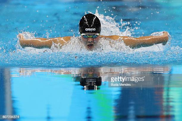 Liesette Bruinsma of the Netherlands competes in the Women's 200m Individual Medley SM11 Final on day 9 of the Rio 2016 Paralympic Games at the...