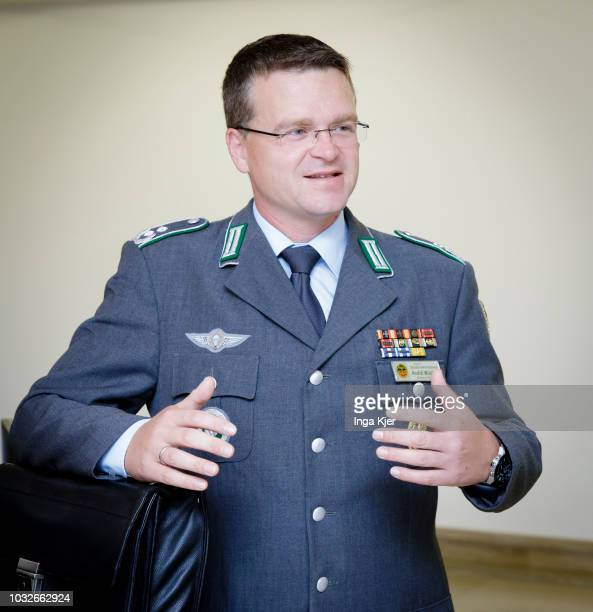 Lieutenant colonel Andre Wuestner chairman of the German Bundeswehr alliance pictured on September 13 2018 in Berlin Germany