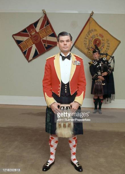 Lieutenant Colonel Colin Mitchell also known as Mad Mitch commanding officer of the 1st Battalion of the Argyle Sutherland Highlanders circa 1967