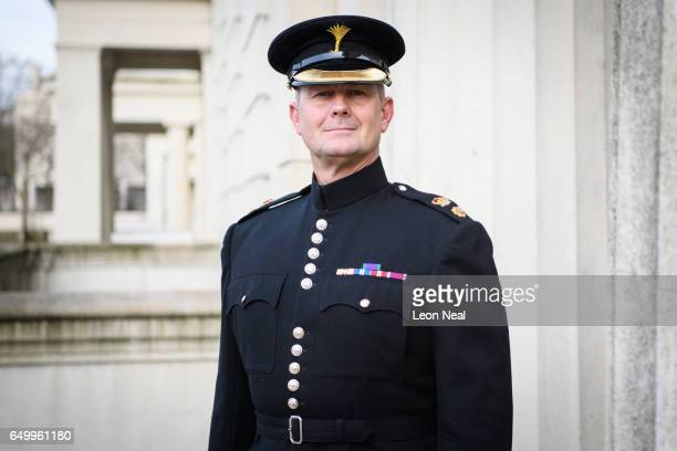 Lieutenant Colonel Kevin Roberts Senior Director of Music of the Welsh Guards Band at Wellington Barracks London 7 March 2017 Lt Col Roberts military...