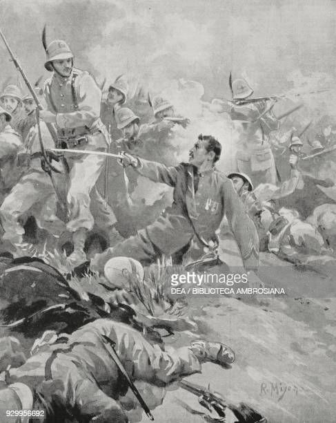 Lieutenant Colonel Menini at the Battle of Adwa ItaloAbyssinian War Ethiopia drawing by R Miseno from L'Illustrazione Italiana Year XXIII No 18 May 3...