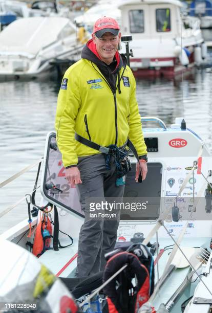 Lieutenant Colonel Rich Hall team member with the Force Atlantic rowing team helps to prepare the boat ahead of a team practice in Hartlepool Marina...
