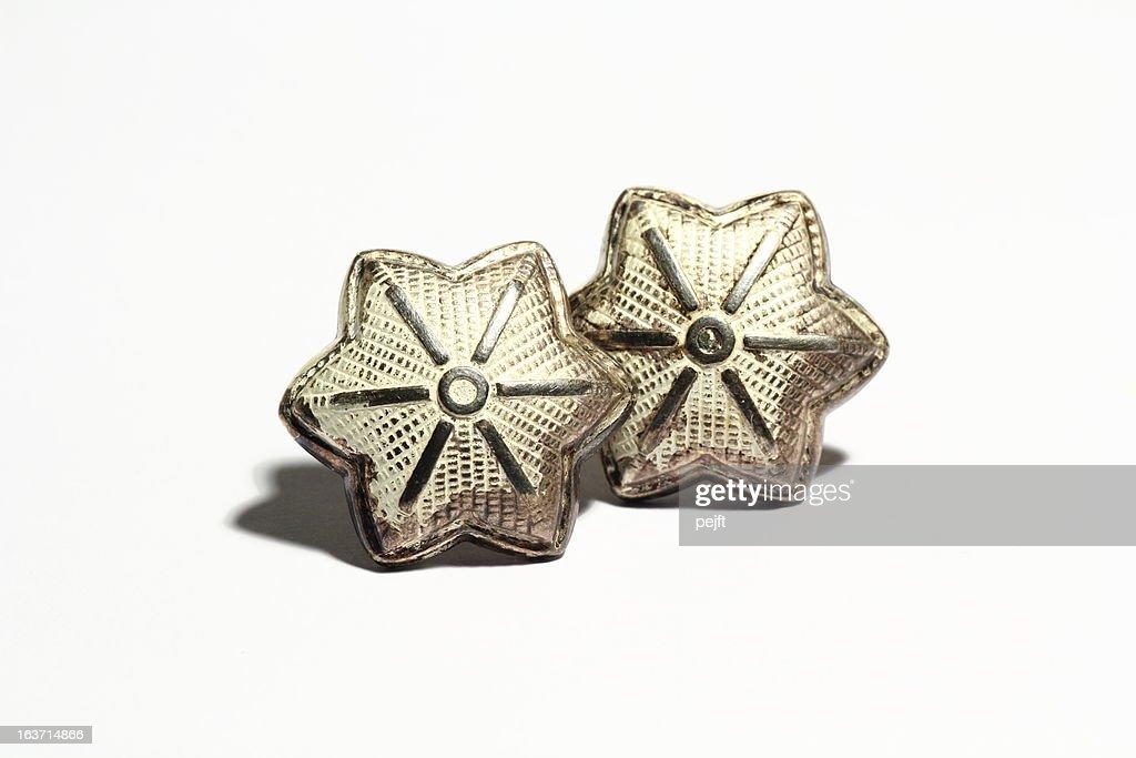Lieutenant Colonel silver star : Stock Photo