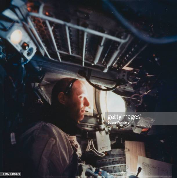 Lieutenant Colonel Thomas P Stafford in orbit during NASA's Gemini 9A mission 5th June 1966