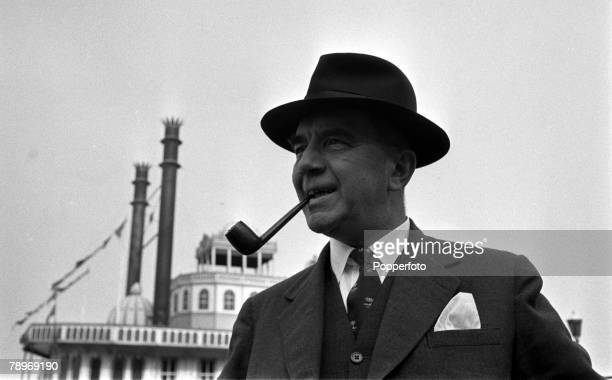 Lieutenant Commander Richard Case formerly of the Royal Naval Reserve wearing his naval college tie from the HMS Worcester training ship 1956 During...