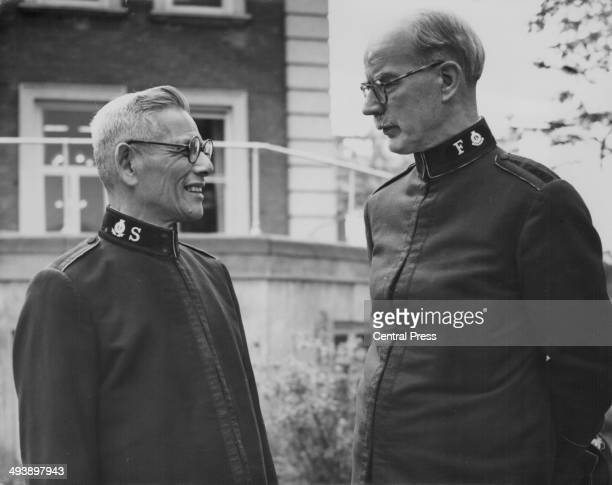 Lieutenant Commissioner Wycliffe Booth Territorial Commander for Norway and Iceland and Commissioner Masuzo Uyemura Territorial Commander for Japan...