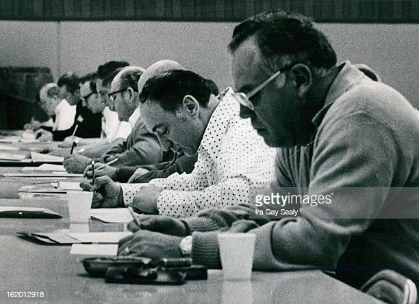MAR 17 1975 MAR 18 1975 Lieutenant Exam Given To Policeman Denver Policeman take a written test for promotion to lieutenant Monday morning at the...