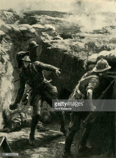 Lieutenant Forshaw throwing bombs continuously Gallipoli First World War 'Territorial Heroism on the Krithia Lines August 89 1915 how Lieutenant...