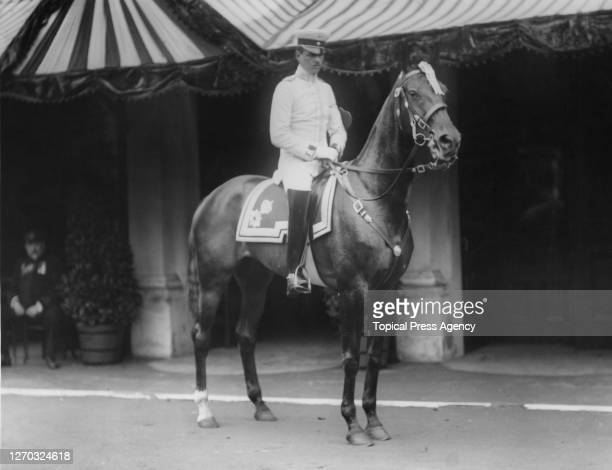 Lieutenant Fugger of the German Army riding Okero at the International Horse Show at Olympia London 17th June 1912 They won first prize at the show