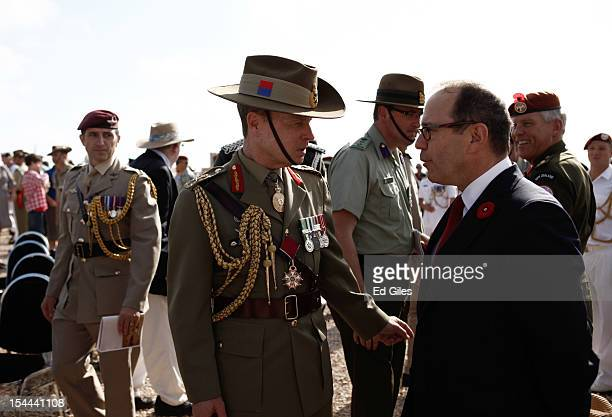 Lieutenant General David Morrison Chief of the Australian Army attends commemorations for the 70th anniversary of the Battle of El Alamein at the El...
