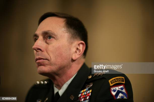 Lieutenant General David Petraeus testifies to the Senate Armed Forces Committee about his nomination to be general and commander of the...