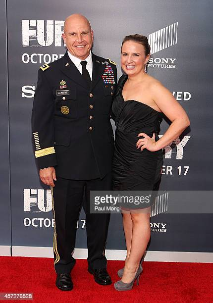 Lieutenant General HR McMaster and his daughter Katherine McMaster attend the 'Fury' Washington DC Premiere at The Newseum on October 15 2014 in...