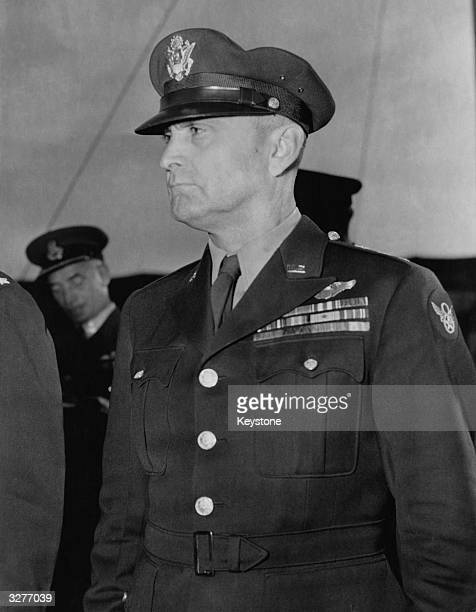 Lieutenant General Ira Clarence Eaker Commander of the bomber element of the US 8th Air Force from 1942 leading the first heavybomber raid on...