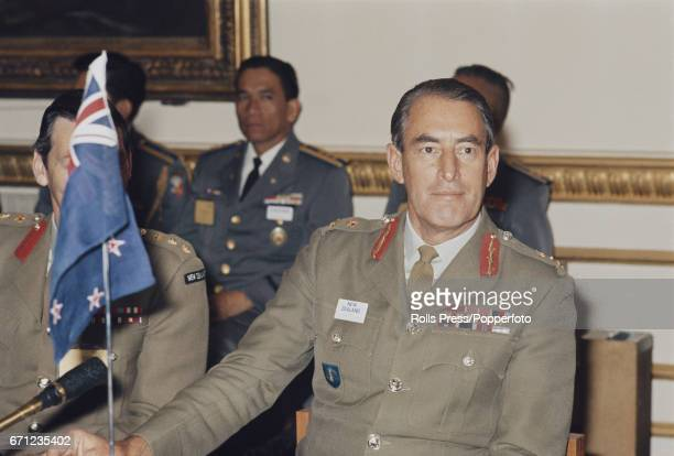 Lieutenant General Leonard Thornton of the New Zealand Army pictured attending a Southeast Asia Treaty Organization conference in May 1971