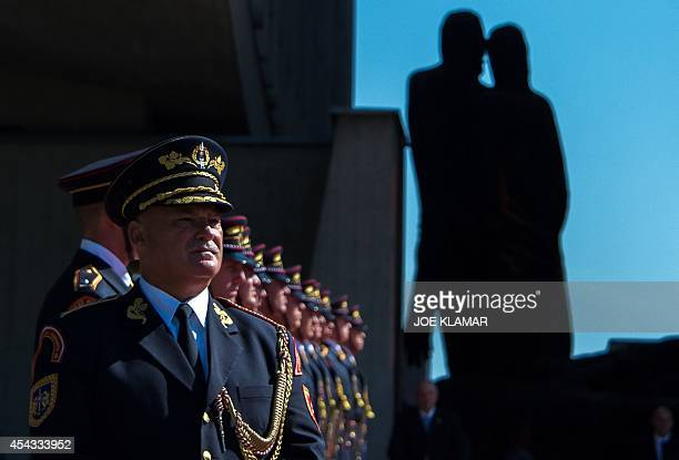 Lieutenant General Marian AC Chief of Military Office attends a ceremony to commemorate the 70th anniversary of the Slovakia's National Uprising at...