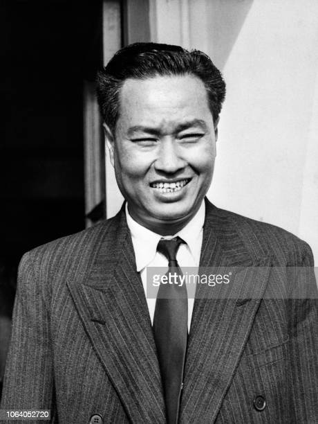 Lieutenant General Ne Win 41yearold Supreme Commander of the Burmese Armed Forces arrives at London Airport 17 October 1952 for an official visit to...