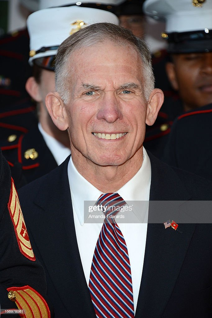 Lieutenant General Pete Osman arrives at the 2012 Hollywood Christmas Parade Benefiting Marine Toys For Tots on November 25, 2012 in Hollywood, California.