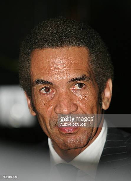 Lieutenant General Seretse Ian Khama Botswana's Vice President and the Paramount Chief of the Bamangwato tribe is pictured on March 18 2008 He is the...