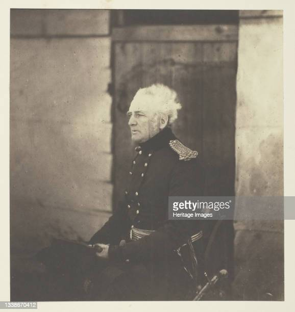 Lieutenant General Sir George Brown, G.C.B., 1855. A work made of salted paper print, plate 29 from the album 'photographs taken in the crimea' ....