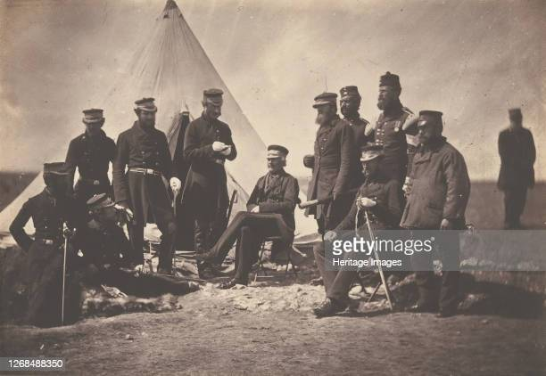 Lieutenant General Sir J L Pennefather and Staff 1855 Artist Roger Fenton