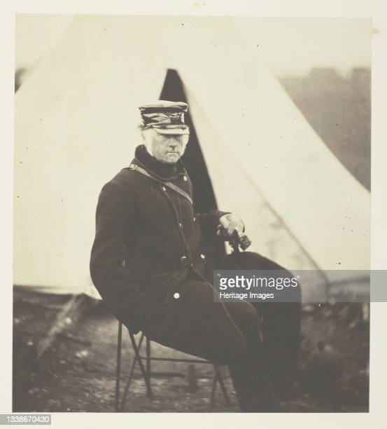 Lieutenant General Sir W.J. Codrington, K.C.B., 1855. A work made of salted paper print, plate 36 from the album 'photographs taken in the crimea' ....