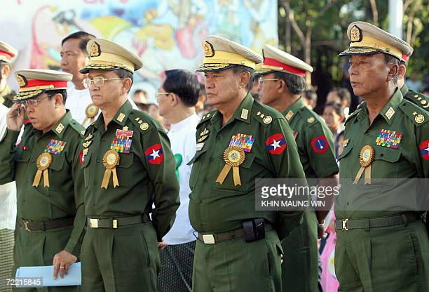 Lieutenant General Thein Sein , Chairman of National Convention and fifth powerful man in Myanmar's ruling Junta, attends an opening ceremony of a...