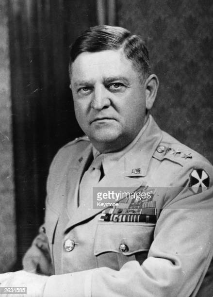 Lieutenant General Walton H Walker Commanding General of the United States Eighth Army on his appointment to the post of Commander of the ground...