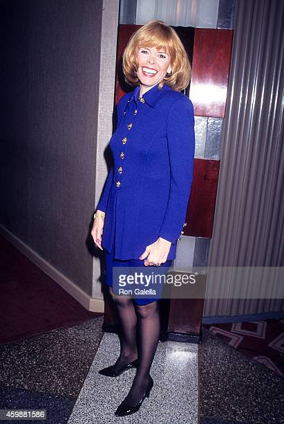 Lieutenant Governor Betsy McCaughey attends the Ninth Annual Power Lunch for Women to Benefit CitymealsonWheels on November 20 1995 at The Rainbow...