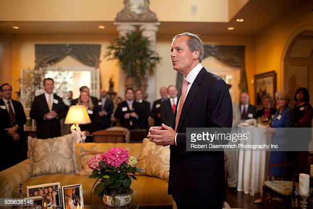 Lieutenant Governor David Dewhurst speaks to business people wishing to discuss health care issues with state leaders Dewhurst's political influence...