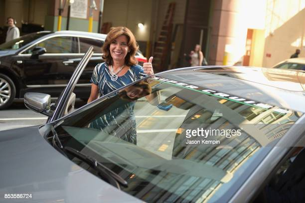 Lieutenant Governor Kathy Hochul of New York and Cadillac kick off firstever handsfree drive on freeways from coast to coast with Cadillac Super...