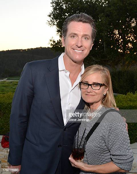 Lieutenant Governor of California Gavin Newsom and Maureen McCormick attend Best Buddies Challenge Hearst Castle Kickoff Reception Hosted by Maria...