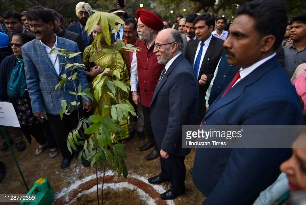 Lieutenant Governor of Delhi Anil Baijal and Union Minister For Housing and Urban Affairs Hardeep Singh Puri during the inauguration ceremony of...