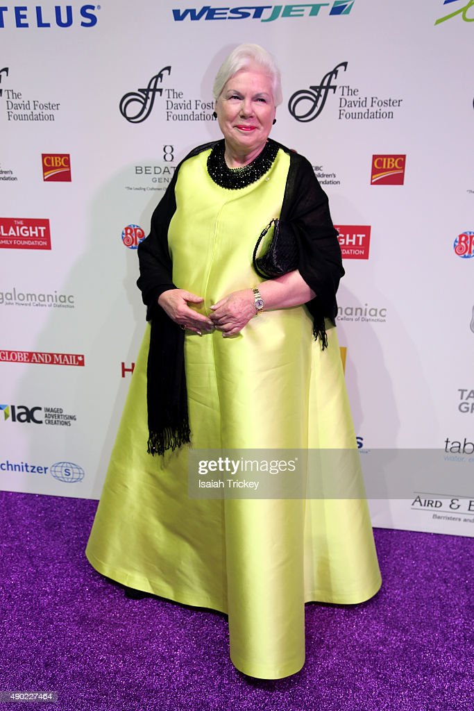 Lieutenant Governor of Ontario, Elizabeth Dowdeswell arrives at the David Foster Foundation Miracle Gala And Concert at Mattamy Athletic Centre on September 26, 2015 in Toronto, Canada.