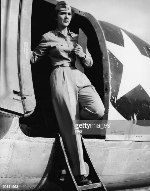 Lieutenant Janice Feagin of Montgomery Alabama becomes the first American flight nurse to enter the North Korean field during the Korean War as she...